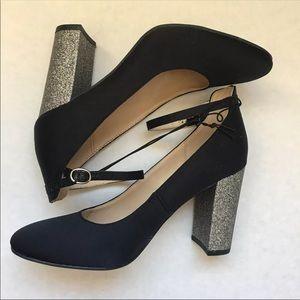 Mark Fisher Satin Black heels